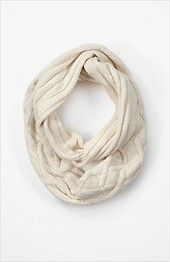 cable chenille infinity scarf