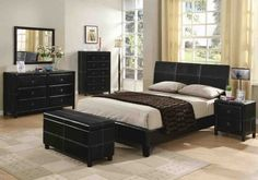 Black Twin Bedroom Furniture Sets