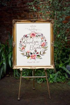 PRINTABLE Wildwood Welcome Wedding Sign // Woodsy by Foxbairn