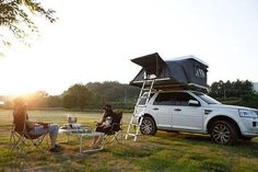 A more durable version of the rooftop pop-up tent that features an extendable floor.