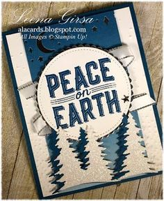 A La Cards: Peace on Earth...Christmas in July for Sunday Stamps - SU - Carols of Christmas stamp set and coordinating Card Front Builder dies