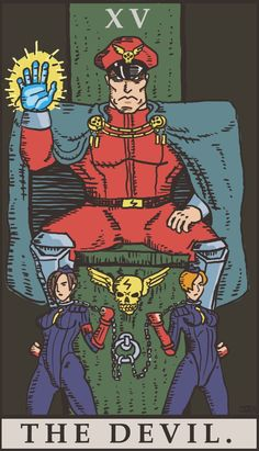 Street Fighter Tarot - The Devil by SayIanIanIan