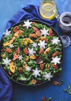 Grønkålssalat med appelsin, belugalinser og pekannødder, www.bydianawi.com