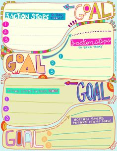 goals - Printable | Teacher Stuff