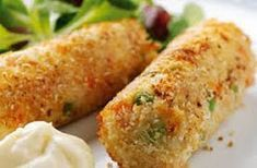 A simple Vegetable and cottage cheese croquettes recipe for you to cook a great meal for family or friends. Buy the ingredients for our Vegetable and cottage cheese croquettes recipe from Tesco today. Vegetarian Fast Food, Healthy Cooking, Healthy Snacks, Cheese Croquettes Recipe, Potato Croquettes, Greek Recipes, Veggie Recipes, Fast Recipes, Chicken Recipes
