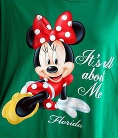 27.44$  Watch now - http://viddc.justgood.pw/vig/item.php?t=b42p7i25870 - Minnie Mouse Night Shirt Long Tee It's All About Me Plus Size 3XL GREEN Disney