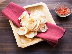 Savory, salty shrimp chips, a staple snack of Southeast Asia, are easy ...