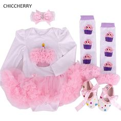 >> Click to Buy << Cupcake Valentine Baby Outfits Long Sleeves Newborn Lace Tutu Headband Legwarmers Set Roupa Menina Infant Lace Romper Clothes #Affiliate