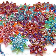 Quilling, paper Christmas decorations. Eco-freindly designs, made to be fully biodegradable - no nasty plastic! Made with paper, eco-glue and strung with organic cotton thread. Available here: https://www.etsy.com/uk/shop/VBPureDesigns All made by me, Victoria Brewer. Design and photo Copyright ©Victoria Brewer - Pure Designs. All rights reserved. Copying prohibited.