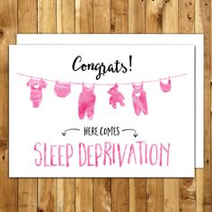 Printable Card - Pregnancy congratulations - Funny pregnancy congratulations card - DIY Card - Digital Download - Instant Download - Congrats!