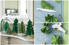How-to-make-paper-craft-Christmas-trees-step-by-step-DIY-tutorial ... ... I love this! See more awesome stuff at http://craftorganizer.org