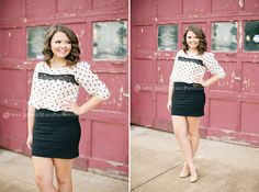 Fashionable senior pictures, urban, downtown, photography