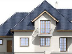 DOM.PL™ - Projekt domu ARD Kasztan 2 paliwo stałe CE - DOM RD1-60 - gotowy koszt budowy Design Case, Window Design, Teds Woodworking, Dom, My House, House Plans, Floor Plans, Cabin, Mansions