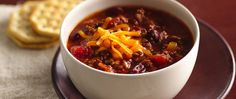 Ready in just 10 minutes, this easy chili comes together in a flash thanks to a few pantry staples and a package of lean ground beef.
