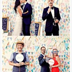 What a clever idea for a bridal #photobooth photo shoot! Fab backdrop. Photo via #100LayerCake