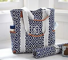 Personalized Diaper Bag Quilted Baby Tote & Changing Pad ...
