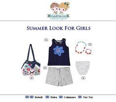 #Summer #look for #girls from #Boboli #Haba #Calamaro #TucTuc.  Check at www.kidsandchic.com/girl    #girlsclothing #girlsfashion #kidsfashion #trendychildren #kidsclothing #shoppingbarcelona #tshirts #tops #shorts #knickers #yewerly #bags