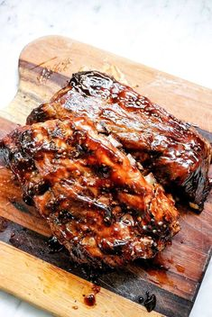 "Slow-Cooker Teriyaki Ribs | ""Easy slow cooker rib recipe. Serve with coleslaw."" #slowcooker #slowcookerrecipes #crockpotrecipes #crockpotdinnerideas Slow Cooker Ribs Recipe, Slow Cooker Chicken, Slow Cooker Recipes, Crockpot Recipes, Cooking Recipes, Rib Recipes, Asian Recipes, Dinner Recipes, Recipies"