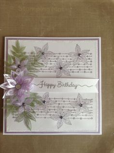 Stamps by Chloe and wow glitters Beautiful Birthday Cards, Happy Birthday Cards, Flower Stamp, Flower Cards, Diy Cards, Handmade Cards, Greeting Card Holder, Chloes Creative Cards, Stamps By Chloe