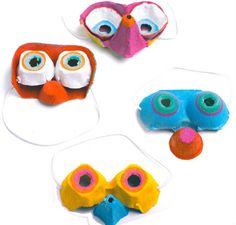 mascaras de carnaval con hueveras