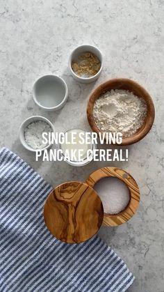 Healthy Breakfast Recipes, Brunch Recipes, Healthy Snacks, Healthy Sweets, Healthy Eating, Single Serving Pancake, Sweet Breakfast, Breakfast Cereal, Breakfast Muffins