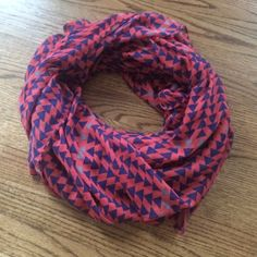 Fun, funky scarf! Long scarf (last pic shoes the length, plus it's folded in half!) lightweight and super soft, can be worn in multiple ways, and can even act as a shawl! No defects, perfect condition! botique Accessories Scarves & Wraps