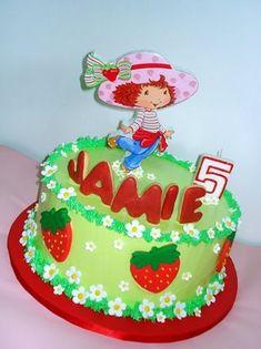 strawberry shortcake birthday cake: karamata