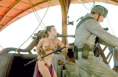 Princes Leia barge fighting