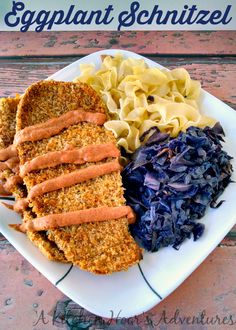 Eggplant Schnitzel - #WeekdaySupper Lightened up Meal - You won't miss the meat in this Eggplant Schnitzel. Toasting the panko really does the trick to make this crunchy, tasty and crazy delicious.
