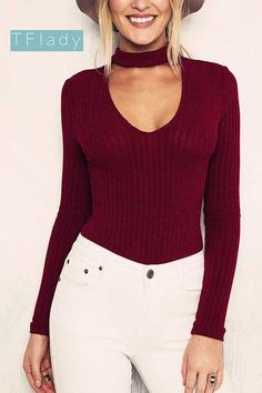 91e29201f70 Women Clothing Halter Knitted Sweater Elastic Pullover Female Slim V-Neck Knitting  Jumper Casual Tops Sweaters