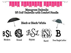 Monogram Umbrella by UglyDucklingStudios on Etsy