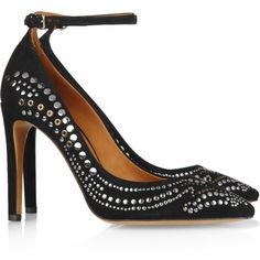 Isabel Marant Stanley studded suede pumps ($520) ❤ liked on Polyvore