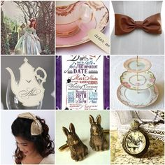 My daughter wants an Alice in Wonderland themed Sweet 16.  There are some great ideas here.