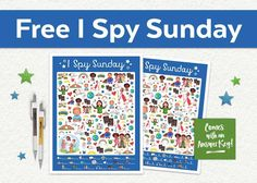 This free I Spy Sunday printable game is perfect for church, Sunday School, primary, and family home evening! Get it today at www.TeepeeGirl.com!