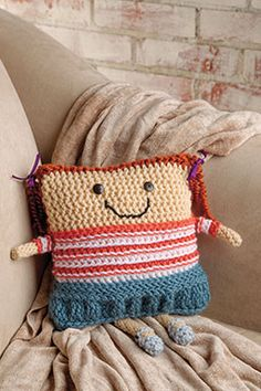 """Recovery Buddie. This charming """"recovery buddie"""" will cheer up anyone who needs it! Free pattern."""