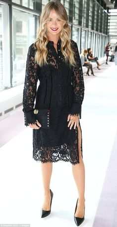 Actress Cressida Bonas looked sensational as she arrived to take her place on Topshop Unique's fashion week front row