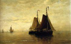 Paintings Reproductions Mesdag, Hendrik Willem Kalme Zee, 1875