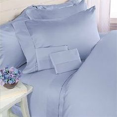 Deluxe' Solid 3 Peices Bed Duvet Cover Set 100 Percent Egyptian Cotton Fine Single Yarns 1800 Thread Count Features Indulgently Soft Surface with a Lovely Sheen! One Duvet Cover + Two pillow Shams (California King, Blue) Cotton Sheet Sets, Bed Sheet Sets, Bed Sheets, Bed Duvet Covers, Comforter Sets, Duvet Cover Sets, Down Comforter Bedding, Dorm Bedding, Cotton Bedding