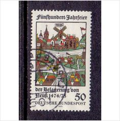 GERMANY BUNDESPOST 1975 SIEGE OF NEUSS 50PF Z16 # SG1736 FINE USED