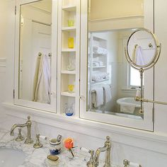 Luxury Custom Medicine Cabinets with Mirrors