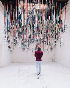 Would you stand under this art installation?