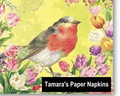 4x Paper Napkins for Decoupage Decopatch Craft Willie the Warbler /& Guests