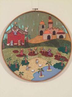 Resultado de imagen para pesebres de botones Nativity Crafts, Christmas Nativity, Christmas Wood, Christmas Cross, Xmas Crafts, Christmas Ornaments, Christmas Patchwork, Christmas Fabric, Christmas Coloring Pages