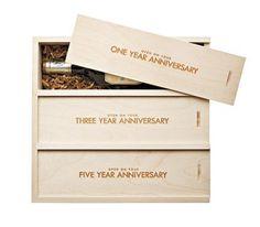 Trio Wine Box - 22 Unique Wedding Gifts | Real Simple #weddinggifts Wedding Gifts Wedding Gift Ideas #wedding