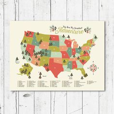 Adventure Awaits Colorful US National Parks Map For A Nursery Or - Us parks map
