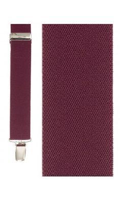 Burgundy Newport Suspenders