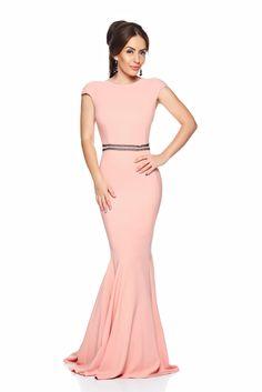 Artista Sugar Love Rosa Dress, mermaid dress, embellished accessories, cut back, inside lining, back zipper fastening, form-fitting, flexible thin fabric/cloth, elastic fabric