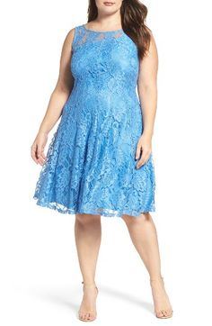 09030bac02ce Free shipping and returns on Gabby Skye Lace Fit & Flare Dress (Plus  Size