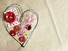 Including buttons or found objects in embroidery