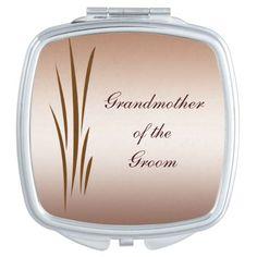 Autumn Harvest Wedding Grandmother of the Groom Compact Mirror